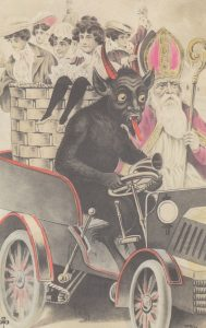 A vintage illustration of Krampus.
